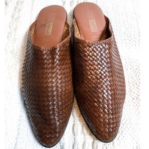 Vintage 90's Leather Collection Brazil Flat Mules